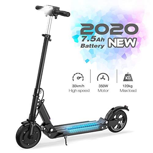 GeekMe Elektroroller | Zusammenklappbarer Elektroroller Roller mit 3 Geschwindigkeitsmodi Bis zu 30 km/h...