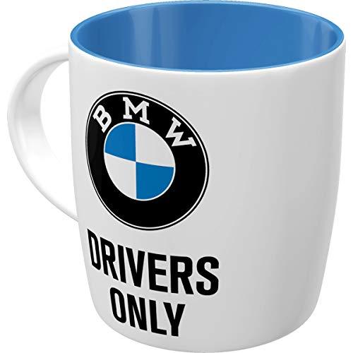 Nostalgic-Art Retro Kaffee-Becher - BMW - Drivers Only, Große Lizenz-Tasse mit BMW-Motiv, Vintage...