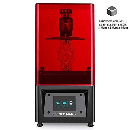 ELEGOO MARS UV LCD 3D Drucker mit 3,5 Zoll Smart Farbtouchscreen Offline-Drucken Druckbereich von 115 x...