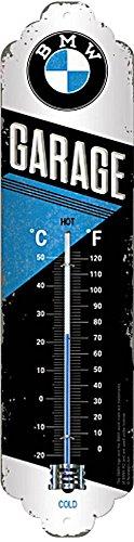 Nostalgic-Art 80312, BMW Garage, Thermometer, Metall, 28 x 6.5 x 1.7 cm