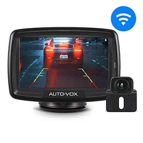 AUTO-VOX Digital Kabellos Rückfahrkamera CS2, Drahtlose Rückfahrkamera mit 4,3' LCD Monitor, Funk...