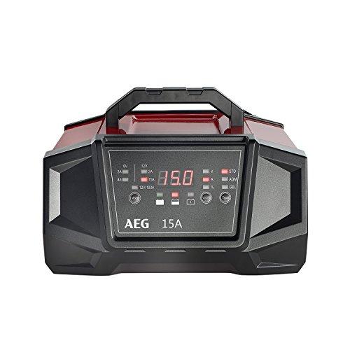 AEG 158009 Werkstatt-Ladegerät WM Ampere für 6 und 12 Volt Batterien, mit Autostart-Funktion, CE, IP...