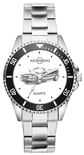 Kiesenberg Uhr 20084 Geschenk Artikel für Audi Cabrio Oldtimer Auto Fans und Fahrer