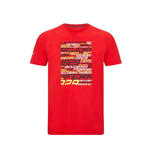 Ferrari - Offizielle Formel 1 Merchandise 2021 Kollektion - Herren - Graphic Tee - Kurze Ärmel - Red - M