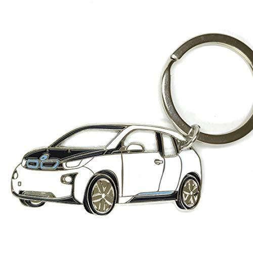 3dcrafter BMW i3 Keyring schlüsselanhänger Fanartikel schlüssel anhänger Keychain Accessories (White)