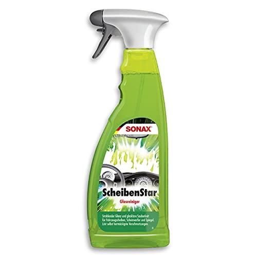 SONAX ScheibenStar (750 ml) kraftvoller Reiniger für Fahrzeugscheiben, Scheinwerfer und Spiegelflächen...