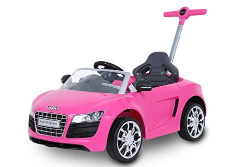 ROLLPLAY Push Car mit ausziehbarer Fußstütze, Für Kinder ab 1 Jahr, Bis max. 20 kg, Audi R8 Spyder,...