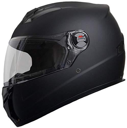 Integralhelm Helm Motorradhelm RALLOX M61 Größe L schwarz matt