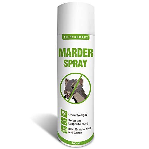 Silberkraft Marderspray 400 ml, Marderabwehr für Auto und Dachboden, Marderschutz für Abwehr und...