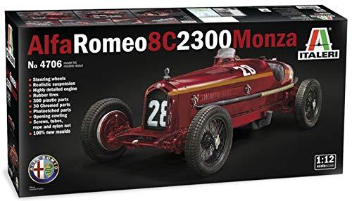Italeri IT4706 510004706 0.05 Alfa Romeo 8C 2300 Monza Nuvolari-Modellbau, Bausatz, Standmodellbau,...