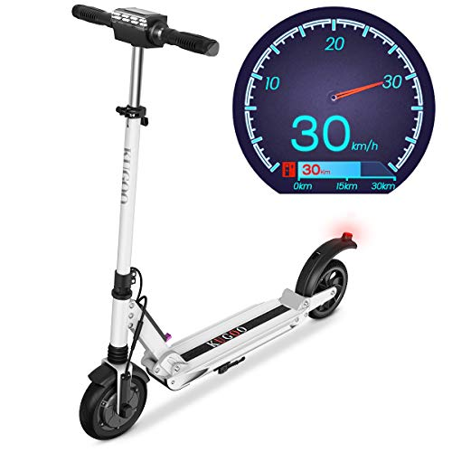 Elektro Scooter 350W Motor E-Scooter Geschwindigkeit 30 Km/h, 30 Km Laufleistung Faltbarer Elektroroller...