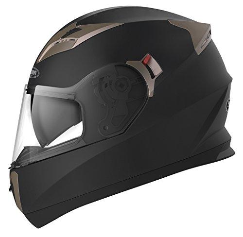 Motorradhelm Integralhelm Rollerhelm Fullface Helm - YEMA YM-829 Sturzhelm ECE mit Doppelvisier...