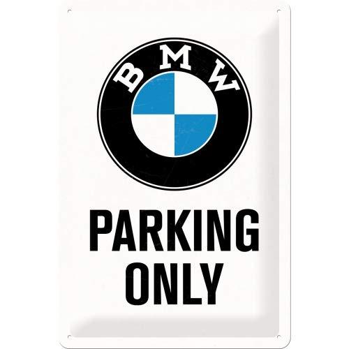 Nostalgic-Art Retro Blechschild, BMW – Parking Only White – Geschenk-Idee für Auto Zubehör Fans,...