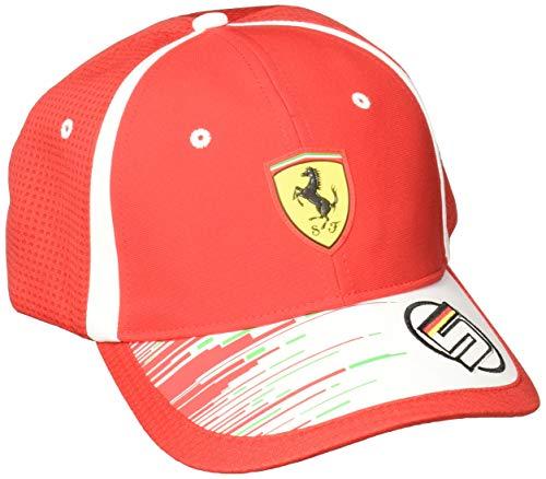 FERRARI F1 Erwachsene Ferrari Vettel Baseball Cap 2018, rot/Weiß, OneSize