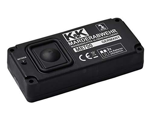 K&K M8700 - Das UNABHÄNGIGE Marderabwehrgerät: Marderabwehr Ultraschall (autark) batteriebetrieben,...