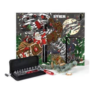STIER Werkzeug Weihnachtskalender, 24-teiliges Werkzeugset