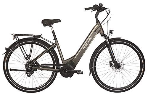 Fischer E-Bike City CITA 6.0i, platingrau matt, 28 Zoll, RH 44 cm, Brose Mittelmotor 50 Nm, 36V Akku im...