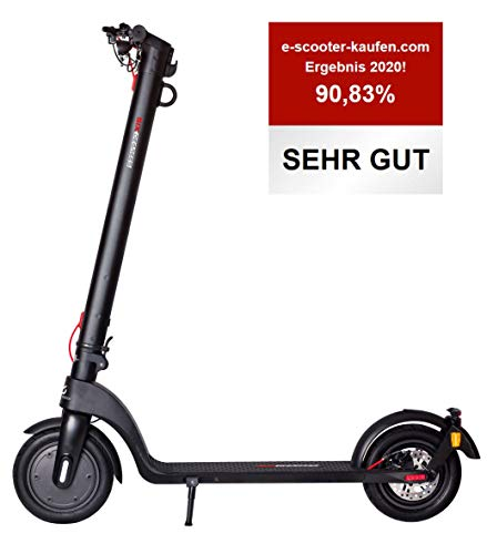 Scoot One E-Scooter E7 - mit Straßenzulassung /ABE, Herausnehmbarer PANASONIC Lithium-Ionen-Akku, 20...