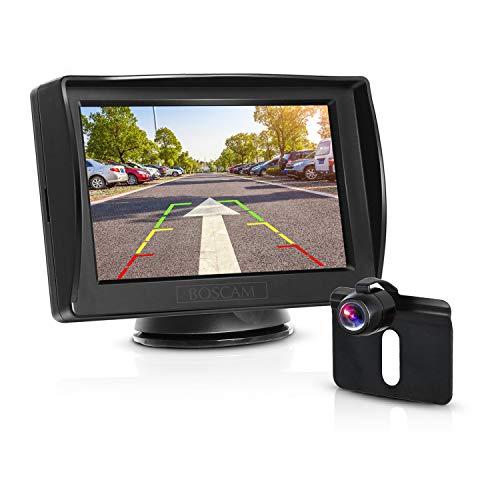 BOSCAM K3 Rückfahrkamera und Monitor Set Wired Rückfahrkamera mit Stabiler Signalübertragung, 14.4...