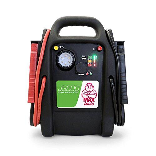 MAXTOOLS, JS500, Batterienotstarter für Autos und Transporter, 2200A 22Ah, für Dieselmotoren und...