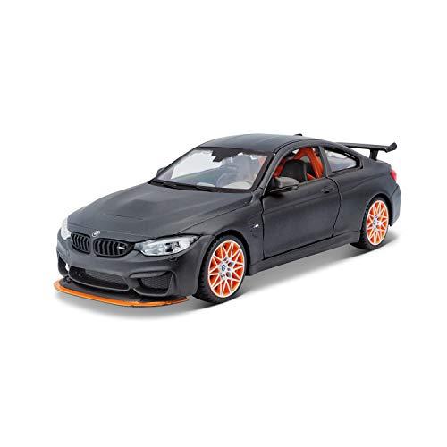 Bauer Spielwaren BMW M4 GTS: Originalgetreues Modellauto 1:24, mit Abgasanlage, bewegliche Türen,...