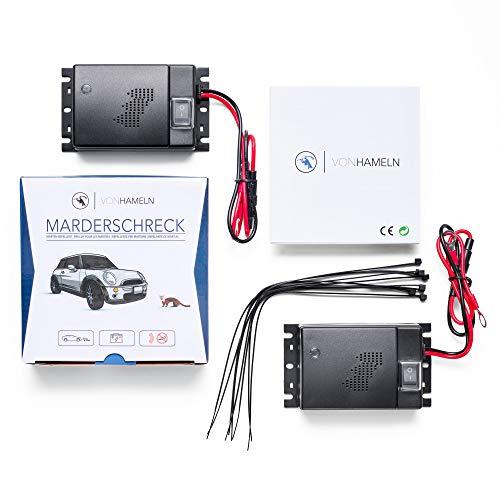 VON HAMELN® Marderschreck Auto - 2 STÜCK - Effektive Marderabwehr Auto mit Ultraschall - Sofortiger &...