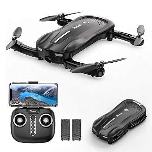 Potensic Mini Drohne mit Kamera, D18 Faltbare 1080P WiFi FPV Quadrocopter mit Optischem Fluss und Zwei...