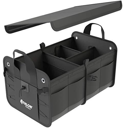 ATHLON TOOLS Premium Kofferraumtasche mit Deckel | Extra stabile & wasserfeste Böden | XXL...