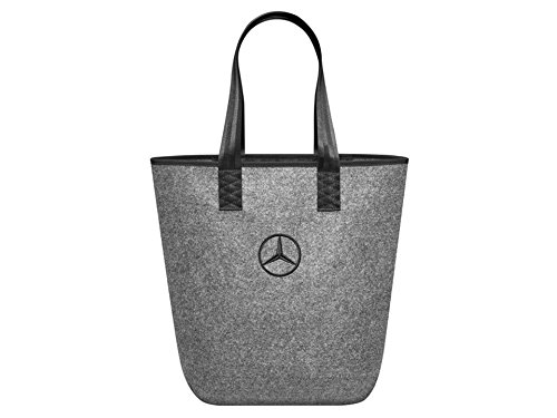 Mercedes-Benz, Einkaufstasche, grau / schwarz, 100% Polyester