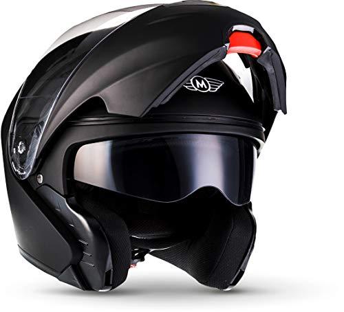 """Moto Helmets® F19 """"Matt Black"""" · Motorrad-Helm · Klapp-Helm Modular-Helm Flip-up Integral-Helm..."""