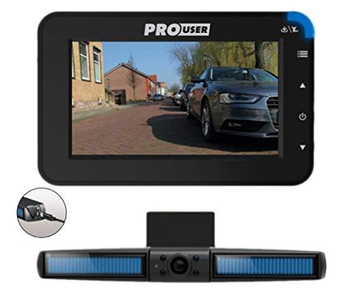 Pro User Solar Rückfahrkamerasystem DRC4310 SOLAR: digitales kabelloses Funk-Rückfahrkamera-Set mit...