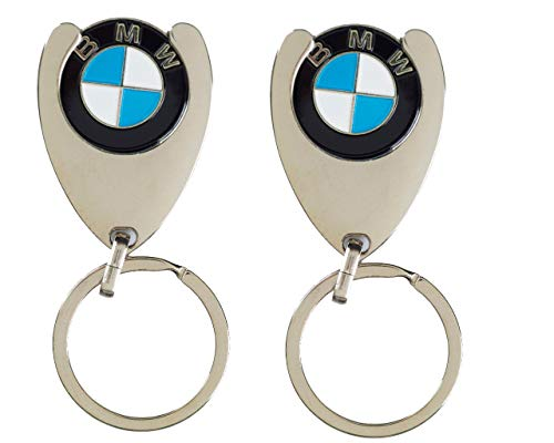 BMW 2 Stück Original Schlüsselanhänger Einkaufs Chip Einkaufswagen Einkaufschip 1er 2er 3er 4er 5er...