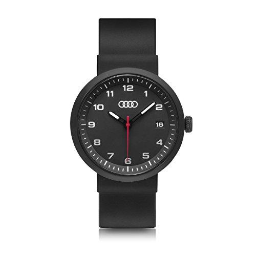 Audi Armbanduhr Ringe, schwarz
