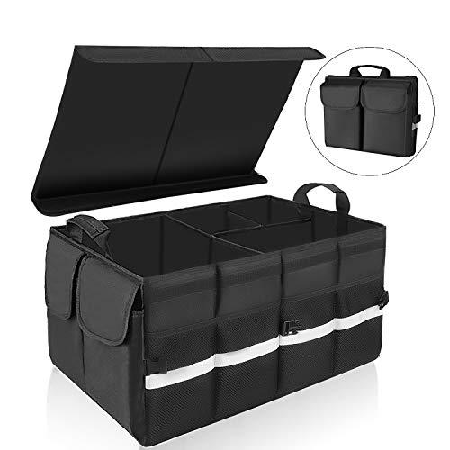 KEAFOLS Kofferraumtasche Auto Kofferraum Organizer mit Klettverschluss Deckel Universal Faltbare...