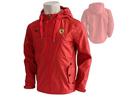 Puma Scuderia Ferrari F1 Classic Woven Jacke rot Windbreaker Regenjacke Kapuze, Größe:S