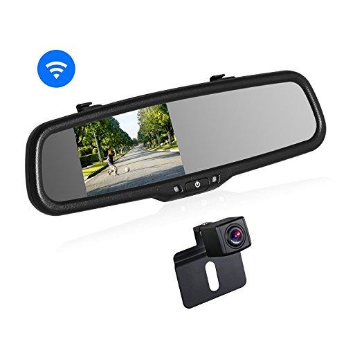 BOSCAM K2 Rückfahrkamera Set, Rückfahrkamera Drahtlos mit 14.4 cm/4.3' Zoll LCD Farbdisplay im...