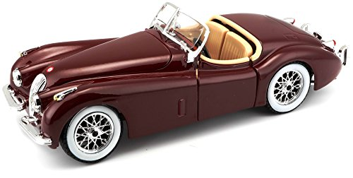 Bburago 15622018 - Bijoux 1:24 Jaguar XK 120 Roadster (1951) - farbe sortiert
