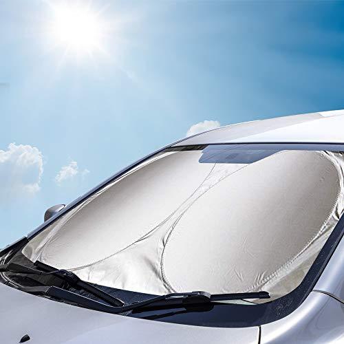 Amokee Auto Frontscheibe, Auto Sonnenschutz Auto Sonnenblende UV Schutz Autoscheibenabdeckung Auto...