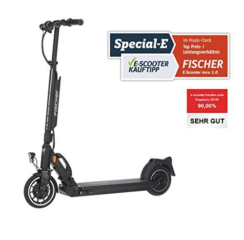 Fischer E-Scooter Elektroroller ioco 1.0 mit Straßenzulassung des KBA, E-Roller, Elektro Scooter, 8 Zoll...