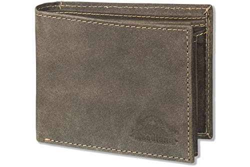Woodland® Riegelgeldbörse im Querformat mit dem Protecto® RFID-Blocker Schutz aus naturbelassenem...