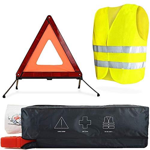 Erste-Hilfe-Set-Auto, Warndreieck-KFZ, Verbandskasten, Warnweste