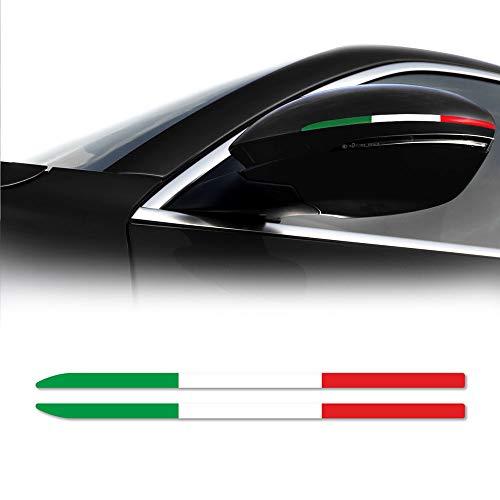 Klebestreifen Italien Flagge für Spiegel Alfa Romeo Stelvio