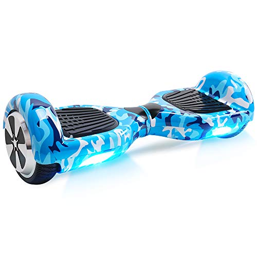 BEBK Hoverboard, 6.5' Self Balance Scooter mit 2 * 250W Motor, LED Lights Elektro Scooter (Army)