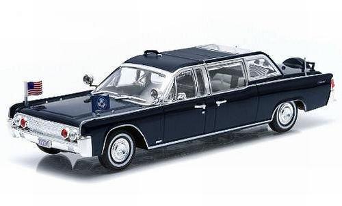 Lincoln Continental SS-100-X, schwarz, John F. Kennedy, 1961, Modellauto, Fertigmodell, Greenlight 1:43