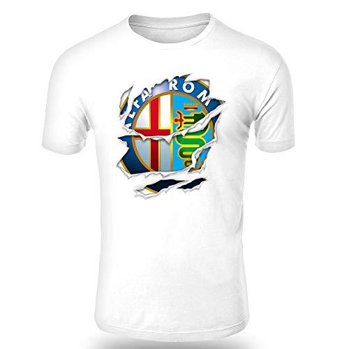 ALFA Romeo Torn 2 Ripped Men T-Shirt Logo CAR Auto Tee TOP Black White Long Sleeves CAR Auto Long Sleeves...