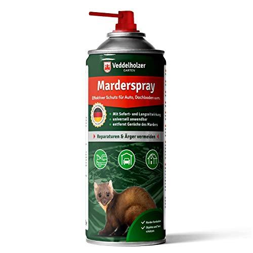 Veddelholzer Marderspray für Auto, Dachboden & Garage | 400 ml | Sofortiger & Langfristiger Schutz für...