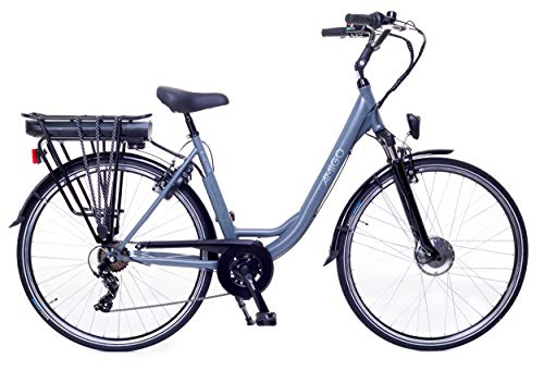 Amigo E-Active - Elektrofahrrad für Damen - E-Bike 28 Zoll - Damenfahrrad mit Shimano 7-Gang- 250W und...
