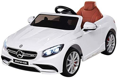 Kinder Elektroauto Mercedes Amg S63 - Lizenziert - 2 x 45 Watt Motor – Ledersitz - Sd-Karte – Usb -...