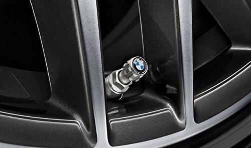 Original BMW Design Ventilkappen Satz (4 Stück) mit BMW Logo für Fahrzeuge mit RDCi