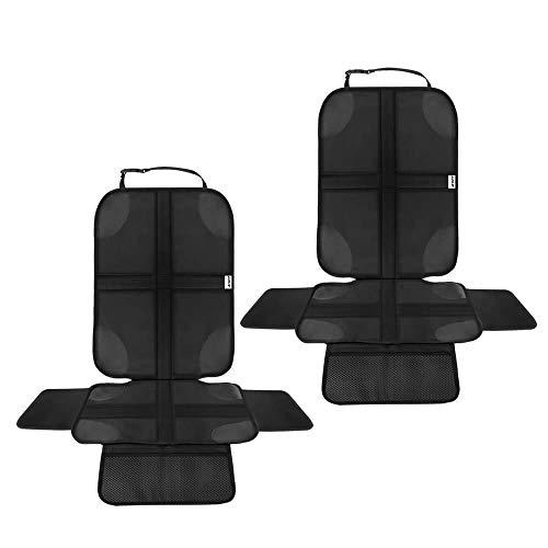 Ezilif Kindersitzunterlage 2 Stück ISOFIX geeignete Sitzschoner Auto Kindersitz, mit Anti-Rutsch...